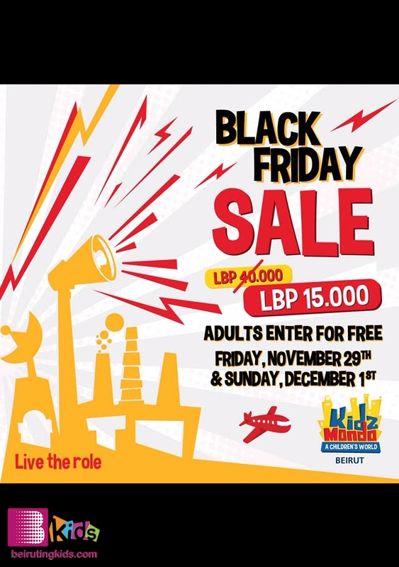 KidzMondo Beirut  Beirut Waterfront Kids Shows Black Friday Offer-KidzMondo Beirut Lebanon