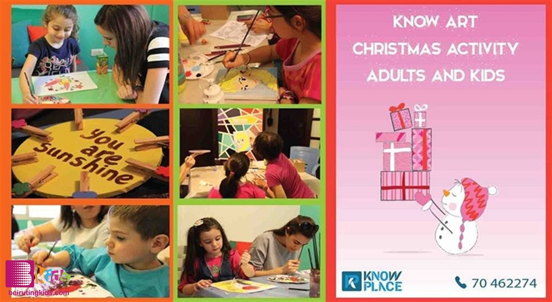 Activity Activities KNOW Art - Christmas Activity - Adults and Kids Lebanon